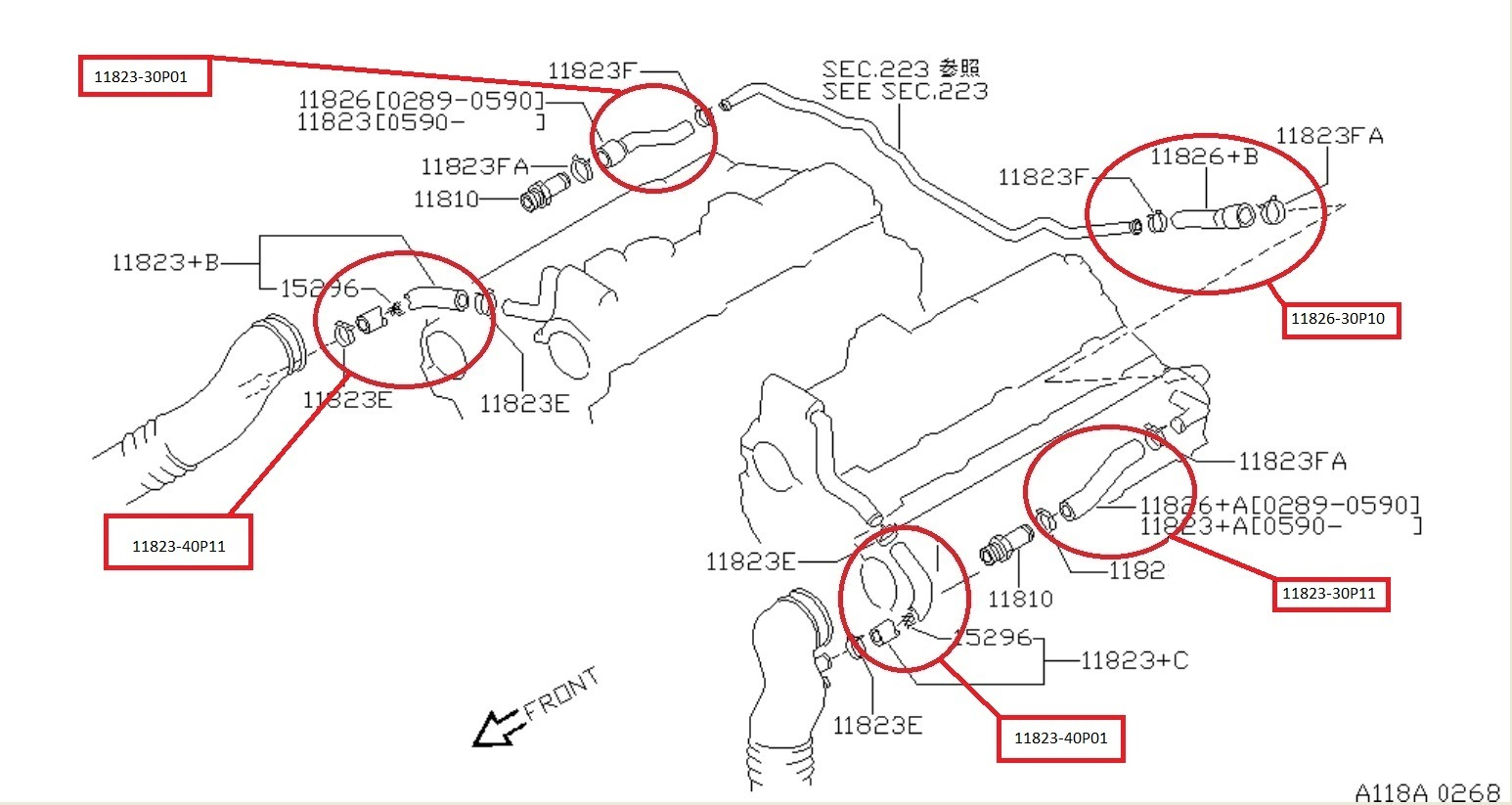 Nissan Oem 300zx Z32 Pcv Hose Front Twin Turbo Tt Lh 11823