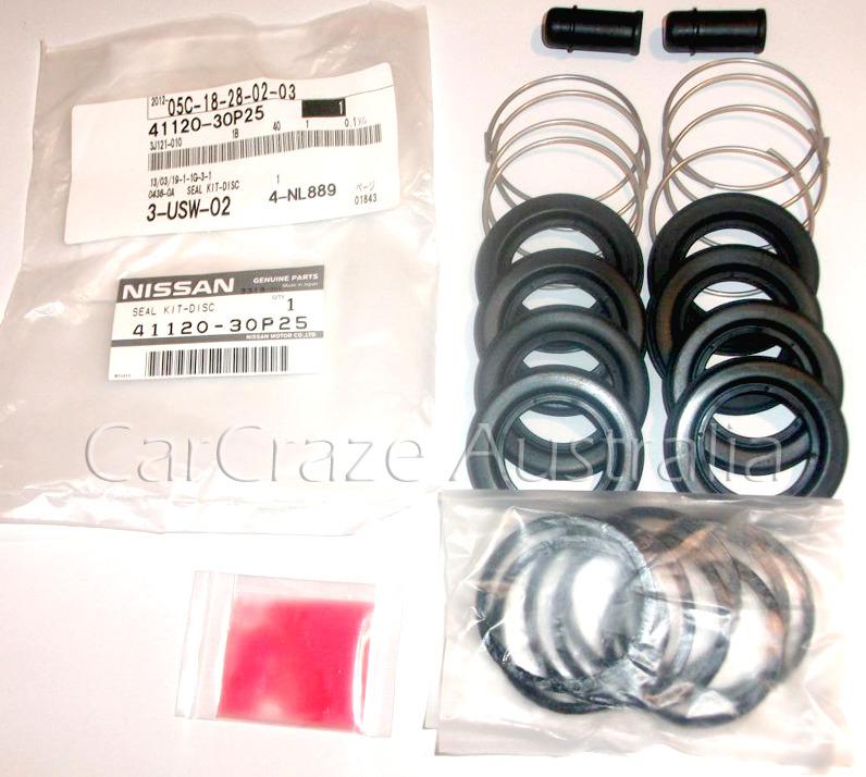 300zx Turbo Seal Kit: 300zx Z32 Front Brake Caliper (Aluminium) Seal Kit Genuine