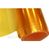 ELECTRIC YELLOW Car Headlight Lamp Tint Film Sticker Nissan Ford Holden A4 Sheet