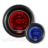 Prosport Evo Electrical Water Temp Car Auto Gauge 52mm Blue / Red EVOWT