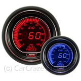 Prosport Evo Electrical Digital Fuel Pressure Gauge 52mm - Blue / Red 216EVOEFP