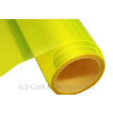 FLURO YELLOW Car Headlight Lamp Tint Film Sticker Nissan Ford Holden 30cm x 60cm