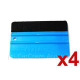 4 x Vinyl Car Wrap Applicator Felt Edge Plastic Edge Squeegee Tool Carbon Fibre