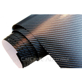 4D Black Gloss Carbon Fibre Auto Vinyl Wrap Car Auto Vehicle Film - 50cm x 152cm